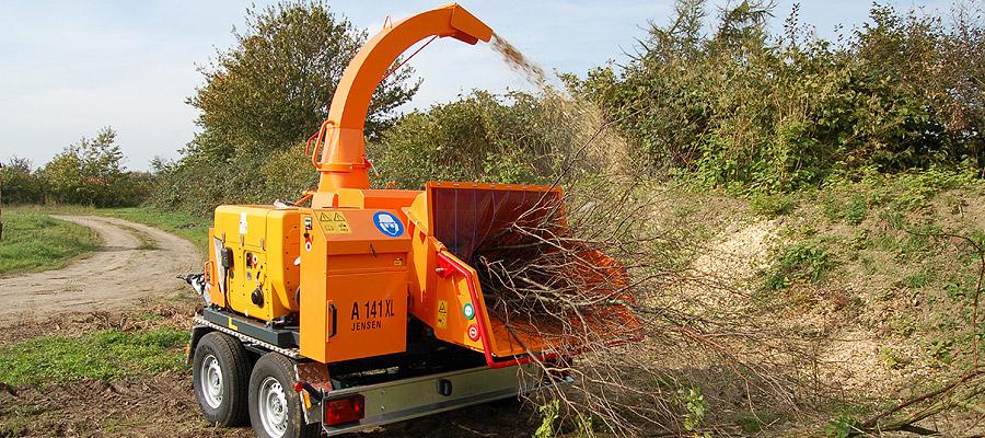 Jensen motoriserede trailer-flishuggere | www.3rod.dk